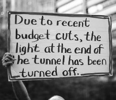 Budget Cuts in 2011 Sign
